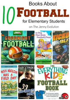 10 Books About Football for Elementary Students from @jennyevolution