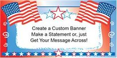 AMERICAN FLAGS BANNER   (Variety of Sizes)