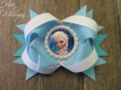Disney Frozen Inspired Hair Bow  Elsa by HairWhimsy1 on Etsy, $7.50