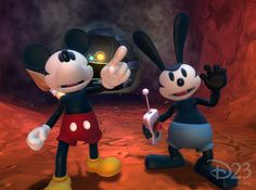 Oswald and Mickey team up for Disney Epic Mickey!