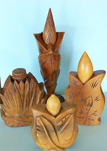 Vintage Hula Lei Hawaiian Leaf Design Hand Carved Wood Perfume Bottle | eBay Hawaiian Art, Vintage Hawaiian, Carved Wood, Hand Carved, Vintage Tiki, Hawaiian Islands, Hula, Leaf Design, Oasis