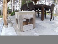 Little bench in palet wood and concrete; Episode-01 - YouTube