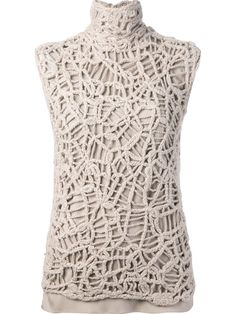 Brunello Cucinelli Crochet Blouse - - Farfetch.com
