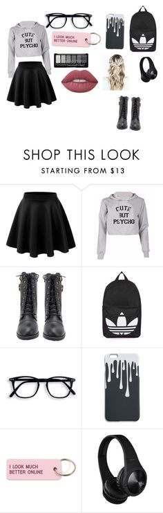 """""""Bored outfit #1"""" by farzeenshussain ❤ liked on Polyvore featuring LE3NO, Topshop, Various Projects and Lime Crime"""