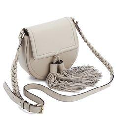 Rebecca Minkoff Women's Isobel Tassel Saddle Crossbody Bag - Khaki: Image 21
