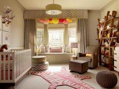 babyzimmer pompoms deko ideen einrichtung zebra teppich