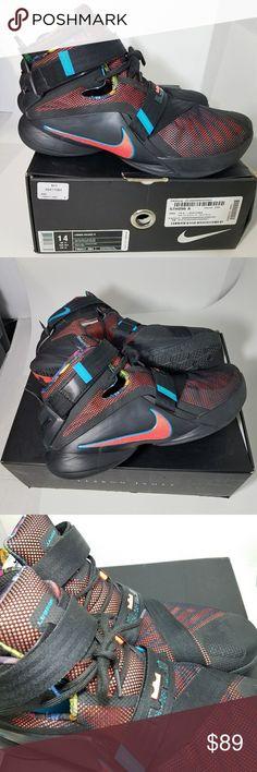 19bec1d5ed2 Nike LeBron James Soldier 9 lX Nike Men s Lebron Soldier 9 lX Collection Sz  14 Multicolor
