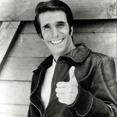 The Fonz!  I loved Mr. Cool!