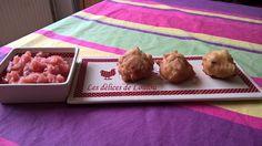 Accras de thon à la tomate / Les délices de Loulou Pudding, Desserts, Tomatoes, Tuna, Food, Tailgate Desserts, Deserts, Custard Pudding, Puddings