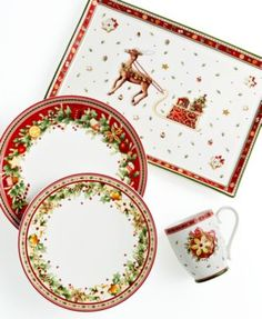 Villeroy u0026 Boch Christmas Dinnerware | Tea sets and china collections | Pinterest | Dinnerware Christmas china and Xmas  sc 1 st  Pinterest & Villeroy u0026 Boch Christmas Dinnerware | Tea sets and china ...