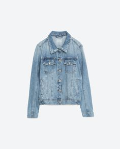 BLEACH WASH DENIM JACKET-Jackets-OUTERWEAR-WOMAN | ZARA United States