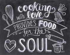 Chalk Art Box Sign for the Kitchen and Cooks!