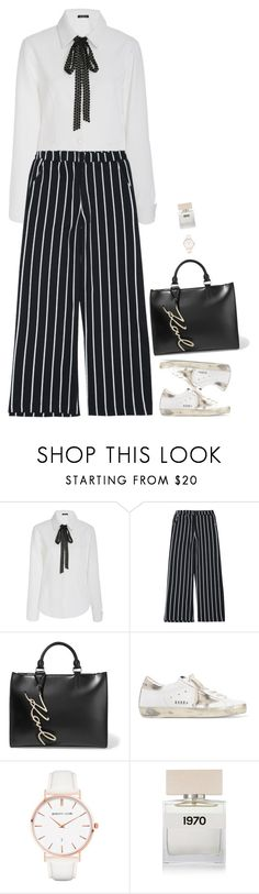 """""""Untitled #8112"""" by miki006 ❤ liked on Polyvore featuring Karl Lagerfeld, Golden Goose, Abbott Lyon and Bella Freud"""