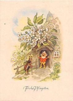 Woodland Illustration, Funny Illustration, Easter Bunny Pictures, Forest Cottage, Baumgarten, Woodland Creatures, Fairy Land, Illustrations And Posters, Whimsical Art