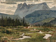 Alan Collier - Headwaters of Fraser River Yellowhead Pass B. 12 x 16 Oil on board Fraser River, Rivers, Lakes, Bedroom Ideas, Illustration Art, Oil, Artists, Board, Pictures