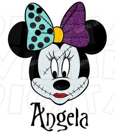 Minnie Mouse dressed as Sally Nightmare before Christmas Digital Iron on transfer clip art INSTANT D Minnie Halloween, Fall Halloween, Halloween Crafts, Mickey Head, Mickey Minnie Mouse, Disneyland Trip, Disney Trips, Disney Cruise, Sally Nightmare Before Christmas