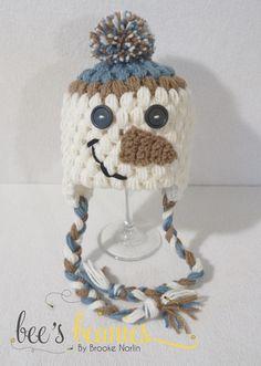 Snowman Crochet Beanie by Bee's Beanies