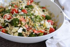 Orzo and Roasted Vegetable Salad  | Mel's Kitchen Cafe