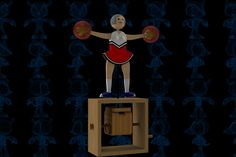 Cheerleader Wooden Toy - SOLIDWORKS,Autodesk 3ds Max,STEP / IGES,Parasolid - 3D CAD model - GrabCAD