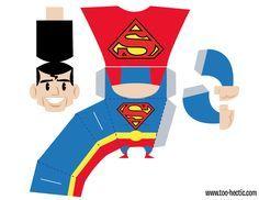 superman paper box