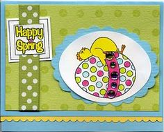 Resting Chicken Card & DIY Directions from GreatImpressionsStamps.com