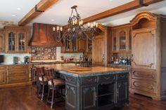 Photo by BMB Dezines // Brandon Beechler 2012 Kitchen Board, Kitchen Tile, Home Decor Kitchen, Kitchen Cabinets, Kitchen Ideas, Kitchen Designs, Old World Kitchens, Cool Kitchens, Tuscan Kitchens