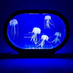 Neon Jellyfish Lamp: