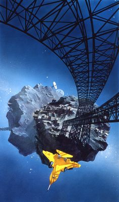 John Harris - Worlds Apart - Acrylics on board - 1994 - 18 x 31 ins (46 x 63 cms)