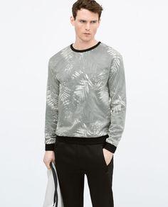 ZARA - MAN - Nylon coated sweatshirt