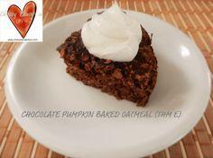 Chocolate pumpkin baked oatmeal (THM E)