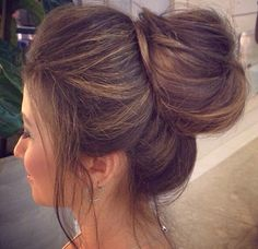 "I think this bun is very classy, and innocent looking. I love the way that the pieces of hair in the front, fall. It gives the look a very careless appearance, as if Capri, ""woke up like this."""