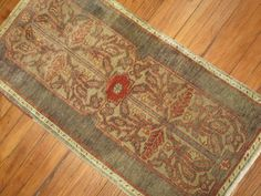 Vintage Turkish Oushak Ushak Yastik Rug Size 1'9''x3'4'' #Turkish