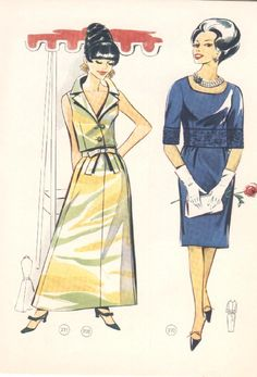 #ClippedOnIssuu from Vintage Lutterloh Sewing Patterns 107 winter 1967