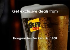 #TheBeerCafe is offering #Hoegaarden bucket for Rs. 1200 only!! best #deals of the city with #MadpiggyApp Download now: goo.gl/xXtOSu