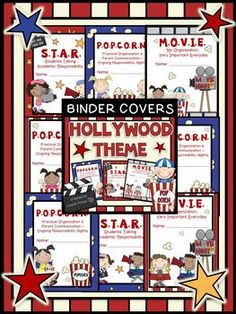These Hollywood/ Movie theme covers are a wonderful way to enhance a student binder. This product consists of different layouts for a P.O.P.C.O.R.N. book, M.O.V.I.E. book, or a S.T.A.R. book. These Hollywood/ Movie theme binder cover sheets will help your students keep an organized notebook. In addition, it is a wonderful way to communicate with your parents on a daily basis.