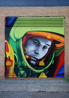 Street Art Magic on Amazing Street Art, Best Street Art, 3d Street Art, Street Art Graffiti, Graffiti Artwork, Mural Art, Collages, Pop Art, L'art Du Portrait