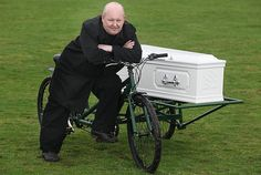 BRITAIN'S first tandem hearse has been put up for sale — because its inventor finds it too tiring. The Rev Paul Sinclair, who invented the pedal-powered coffin ...