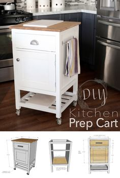 Build stylish and functional storage for your kitchen with this easy, DIY Kitchen Prep Cart project tutorial.
