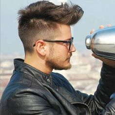 long top short sides quiff hairstyle for men
