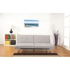 Jacksonville Ash Premium Fabric Foldable Futon Sofa Bed | Overstock.com Shopping - The Best Deals on Futons