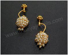 Ideas for jewerly earrings hoops ear rings Indian Wedding Jewelry, Indian Jewelry, Bridal Jewelry, Gold Jewelry, Beaded Jewelry, Jewelry Bracelets, Necklaces, Antique Earrings, Antique Jewelry