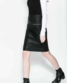 Image 2 of COMBINED PENCIL SKIRT from Zara