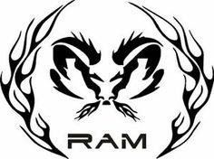 Custom camo  ram symbol  | ... ram tribal logo nature camo dodge decals automotive stickers ram head
