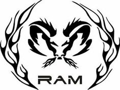Custom camo  ram symbol  | ... ram tribal logo nature camo dodge decals automotive stickers ram head