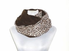 Loop Circleschal Leopard braun von lucylique - Mode und Accessoires made in Leipzig auf DaWanda.com
