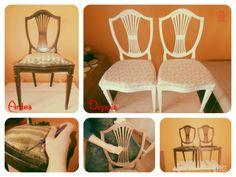 2 Cadeiras estilo D. Maria - Gostou de ideia?  Faça você mesmo: recicle o que tem por casa e venda no OLX!  Se Vale X, OLX!