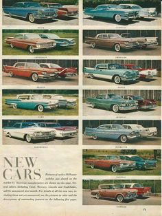 1959 Automobile LineUp AD