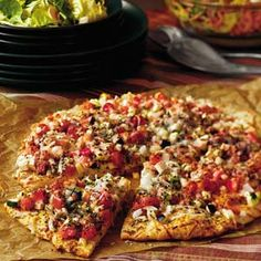 Garden Eggplant Pizza. I cannot wait to try this! I think I'll also add mushrooms and olives!