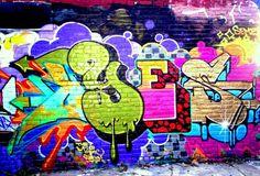 Graffiti Brick Wall Background