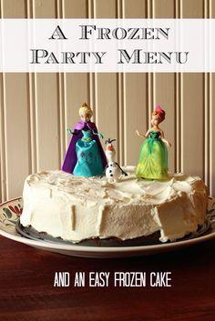 Frozen Party Menu -